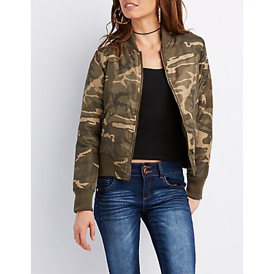 Camo Bomber Jacket
