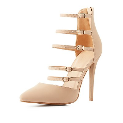 Strappy Pointed Toe Pumps