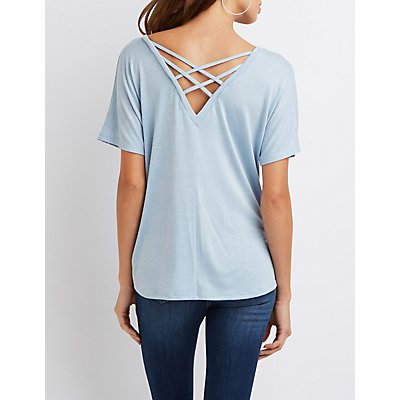 Knotted Lattice-Back Tee