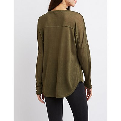 High-Low Drop Shoulder Tee
