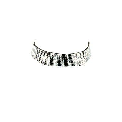 Embellished Rhinestone Choker Necklace