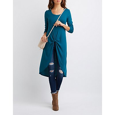 Knotted High-Low Longline Top
