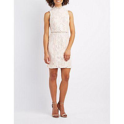 Lace & Crochet-Trim Bodycon Dress