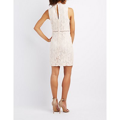 Lace & Crochet-Trim Bodycon Dress
