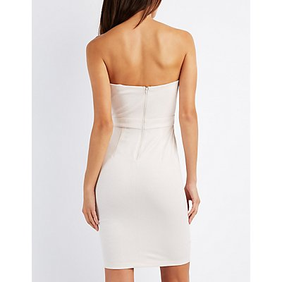 Shimmer Strapless Bodycon Dress