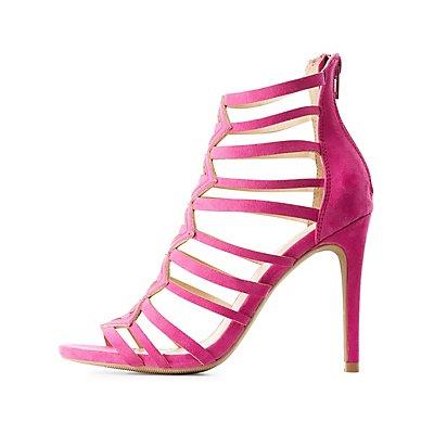 Geometric Caged Dress Sandals