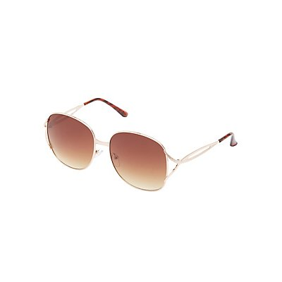Metal Oversize Square Sunglasses