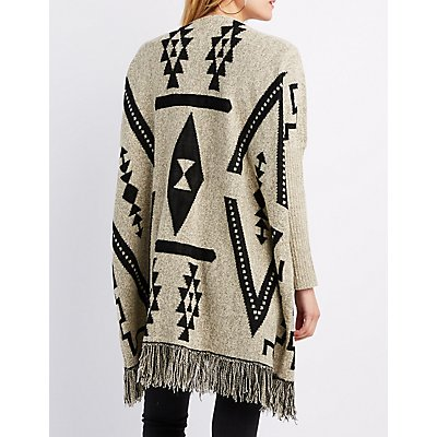 Tribal Fringed Longline Cardigan