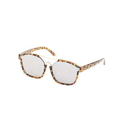 Leopard Brow Bar Sunglasses