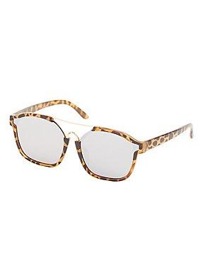 Leopard Brow Bar Sunglasses