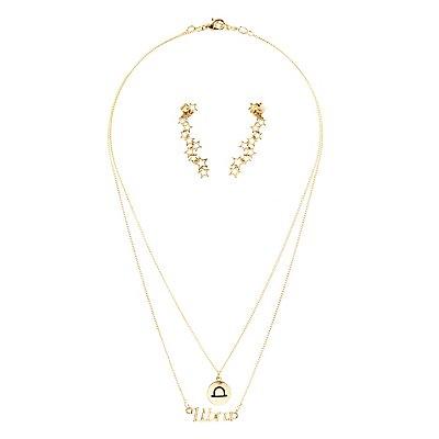 """Libra"" Zodiac Necklaces & Ear Cuffs Set"
