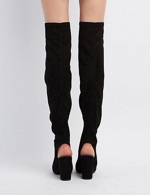 Qupid Peep Toe Over-The-Knee Boots | Charlotte Russe