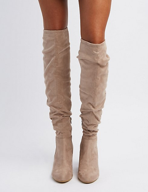 Qupid Over-The-Knee Wedge Boots | Charlotte Russe