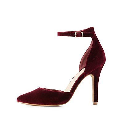 Velvet Two-Piece Pumps