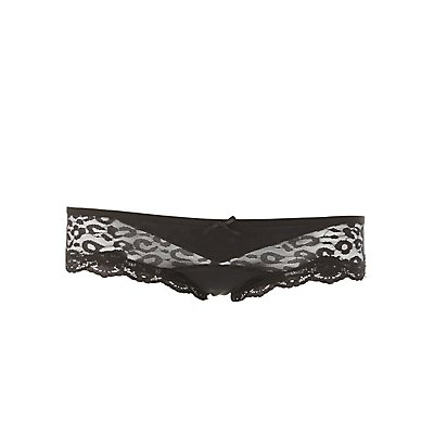 Leopard Lace Cheeky Panties
