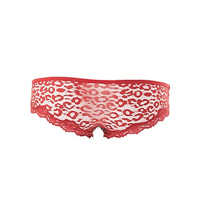 Printed Lace Cheeky Panties