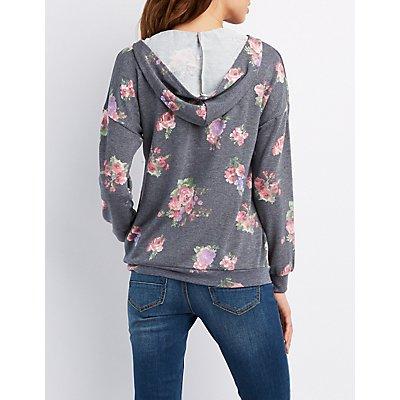 Floral Pullover Hoodie