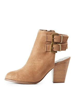 Slingback Buckled Ankle Booties