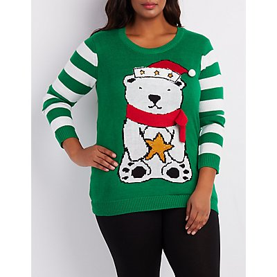 Plus Size Light Up Ugly Holiday Sweater