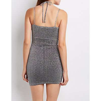 Shimmer Caged Bodycon Dress