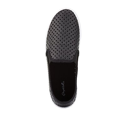 Qupid Perforated Platform Sneakers