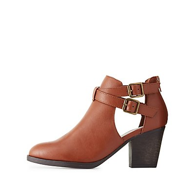 Bamboo Cut-Out Ankle Booties