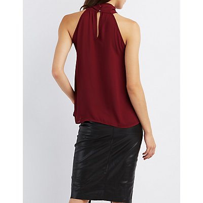 Wrapped Crossover Tank Top