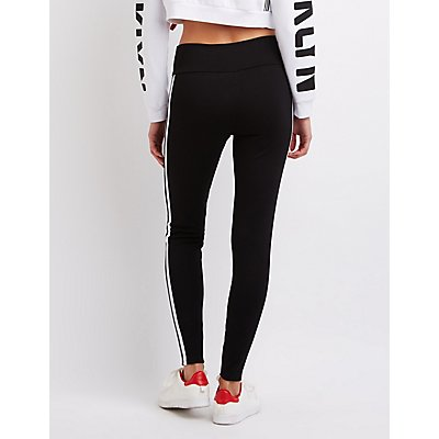 Varsity Stripe Ponte Leggings