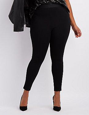 Plus Size Cropped Ponte Pants