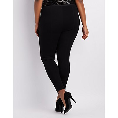 Plus Size Cropped Ponte Pants