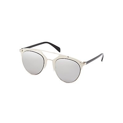 Metal Brow Bar Sunglasses