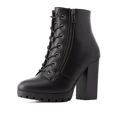Lace-Up Chunky Combat Boots