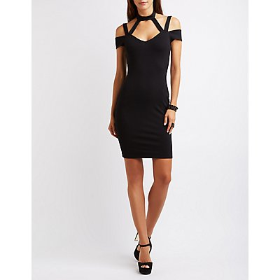 Caged Cut-Out Bodycon Dress