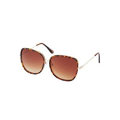 Tortoise Shell Oversize Sunglasses