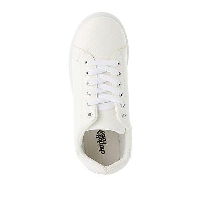 Embossed Snakeskin Sneakers