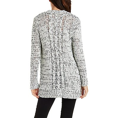 Marled Chunky Cardigan Sweater