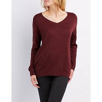 Wide Neck Pullover Sweater