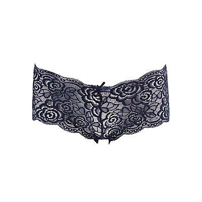 Scalloped Lace Cheeky Panties