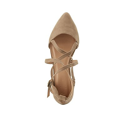 Crisscross Strappy Pointed Toe Flats