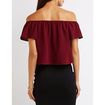 Textured Off-The-Shoulder Top