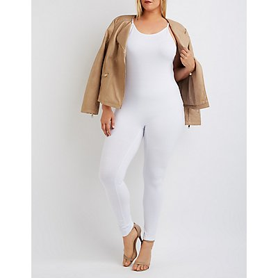 Plus Size Bodycon Jumpsuit