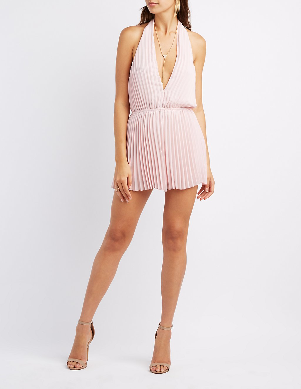 Christie brinkley says shes too busy to date daily mail online charlotte russe pleated plunging halter romper geenschuldenfo Images