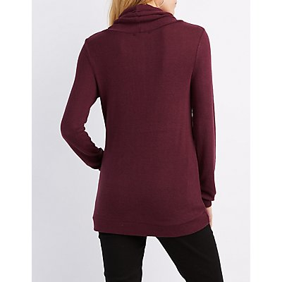 Funnel Neck Tunic Sweatshirt