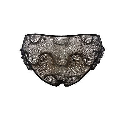 Plus Size Sheer Lace Ruffled Hipster Panties