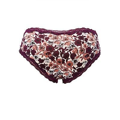 Plus Size Printed Cheeky Panties