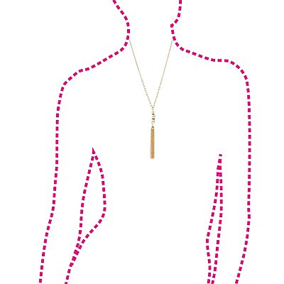 Pearl Bead & Chainlink Tassel Drop Necklace