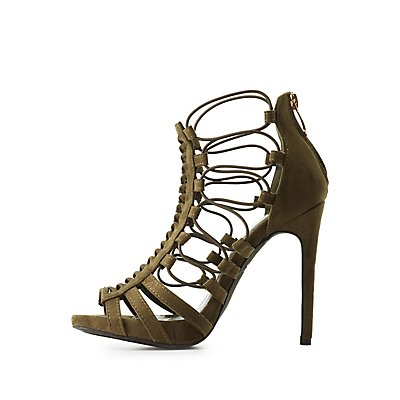 Twisted Caged Dress Sandals