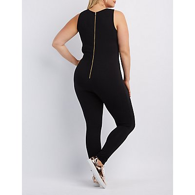 "Plus Size ""Just Do It Later"" Jumpsuit"