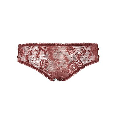 Caged Lace-Back Hipster Panties