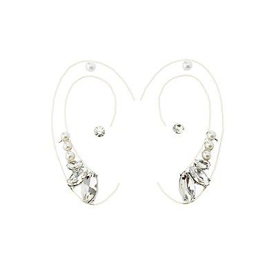Ear Crawlers & Stud Earrings Set